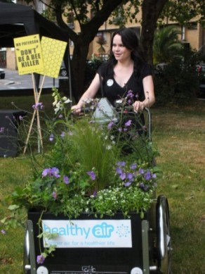 Urban Outdoor Festival 2014 - Duffy on clean air bike