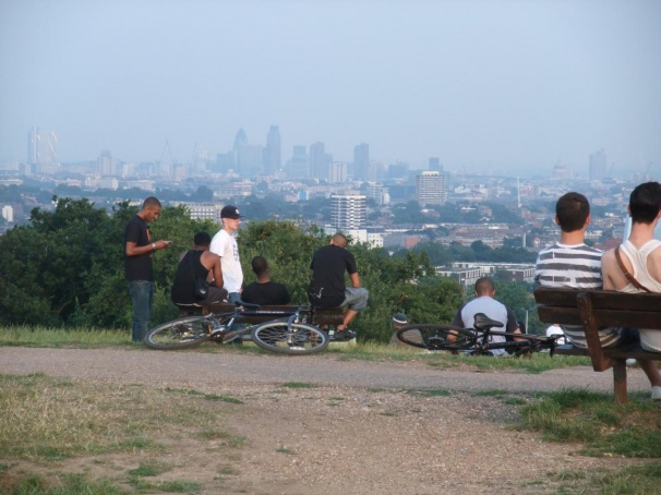 Air pollution and smog seen from Hampstead Heath